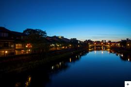 Night view from Asanogawa